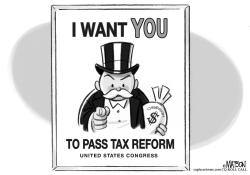 Tax Reform Recruiting Poster by RJ Matson