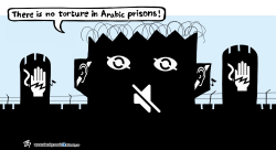 Torture in prisons by Emad Hajjaj