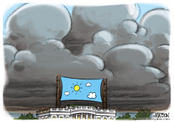 Nothing But Blue Skies Over The White House by RJ Matson
