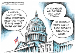 Gatherings and mass shootings  by Dave Granlund