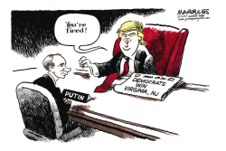 Trump and 2017 elections color by Jimmy Margulies