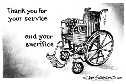 Veterans Service and Sacrifice by Dave Granlund