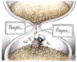 Thoughts and Prayers by Adam Zyglis