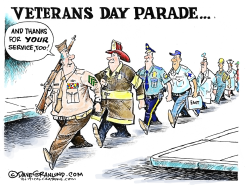 Veterans and responders  by Dave Granlund