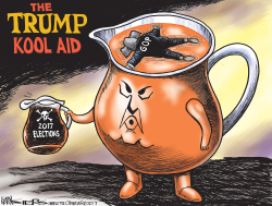The Trump Kool Aid by Kevin Siers