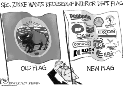 Zinke Flag by Pat Bagley