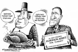 Turkey and Stuffing by Dave Granlund