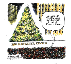 Rockefeller Center Christmas Tree color by Jimmy Margulies