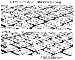 Holiday shopping online by Dave Granlund