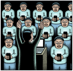 Cult of Screens color version by Andy Singer