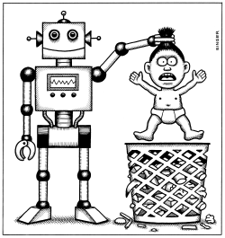 Robots Make Humans Obsolete by Andy Singer