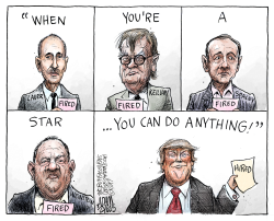 Lauer and Keillor  by Adam Zyglis