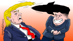 TrumpKim Duel of hairstyles/Due- lo de copetes by Arcadio Esquivel