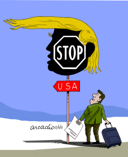 US Quit Migration Pact by Arcadio Esquivel