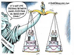 Gay wedding cakes  by Dave Granlund