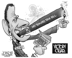 Toomey's victory cigar by John Cole