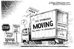 Jerusalem and US embassy by Dave Granlund