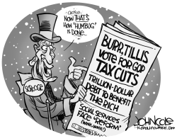 LOCAL NC GOP does humbug BW by John Cole