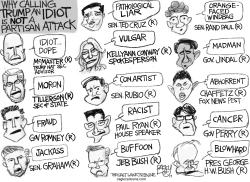 Idiot Trump by Pat Bagley