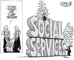 GOP CHIP plan BW by John Cole