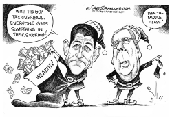 Tax overhaul and stockings by Dave Granlund