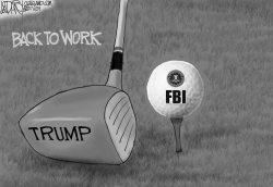 Trump Golfing-FBI Attack by Jeff Darcy