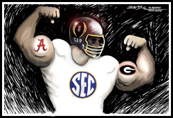 Alabama Georgia College Football Championship by J.D. Crowe