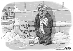 Steve Bannon Out In The Cold by RJ Matson