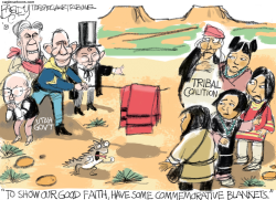 Tribal Coalition by Pat Bagley