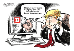 Steve Bannon color by Jimmy Margulies