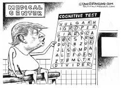 Trump cognitive test by Dave Granlund