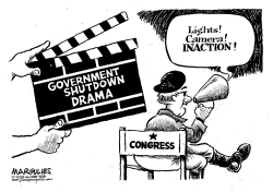 Government Shutdown Drama by Jimmy Margulies