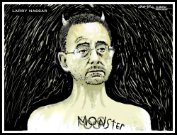 Monster Larry Nassar by J.D. Crowe