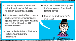 Destroying GOP by Bob Englehart