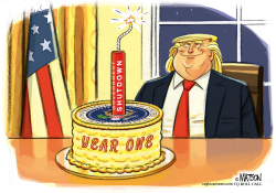 President Trump Marks First Anniversary With Government Shutdown by RJ Matson