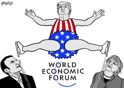 America First in Davos by Rainer Hachfeld