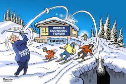 Trump at Davos by Paresh Nath