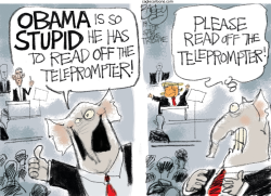 State of the Telepromter by Pat Bagley