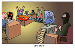DDoS-attack by Arend Van Dam