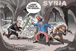 Trukey in Syria by Paresh Nath