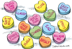 Trump Valentines Candy UNCENSORED by Daryl Cagle