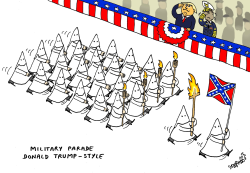Military parade Donald Trump-style by Stephane Peray