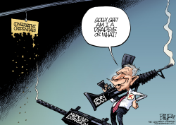 John Kasich Goes Shooting by Nate Beeler