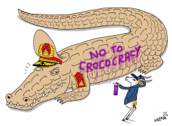 No to Crococracy by Stephane Peray