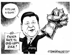 China one-man rule by Dave Granlund