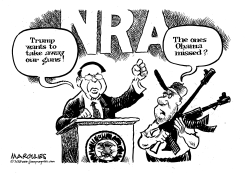 Trump and guns by Jimmy Margulies
