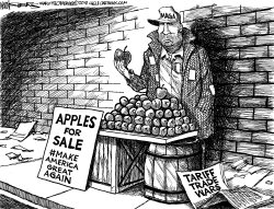 Tariff Trade Wars BW by Kevin Siers