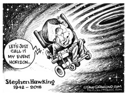 Stephen Hawking tribute by Dave Granlund
