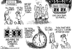 NCAA Too Long by Joe Heller