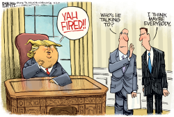 Yah Fired by Rick McKee